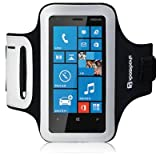 Nokia Lumia 620 Black Shocksock Sports Armband Case Cover for Excercise Protection Built in Screen Protector and Access to Controls From The Keep Talking Shop