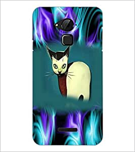 PrintDhaba Cat D-3975 Back Case Cover for COOLPAD NOTE 3 LITE (Multi-Coloured)
