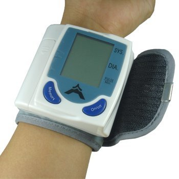 Lujex(TM) Wrist Digital Blood Pressure Monitor Watch with Memory Function