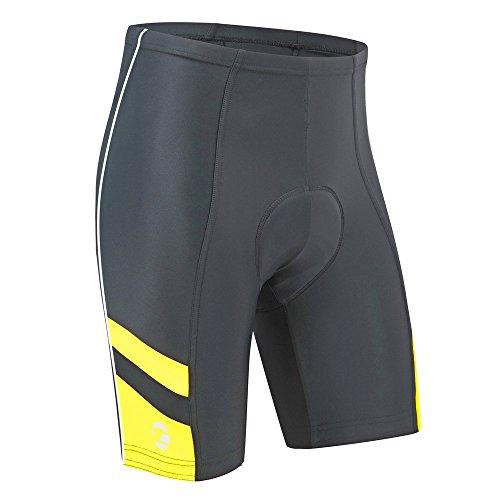 """Tenn Outdoors-Pantaloncini da ciclismo per uomo, UOMO, nero / giallo, Talla 30-32"""" - Small"""