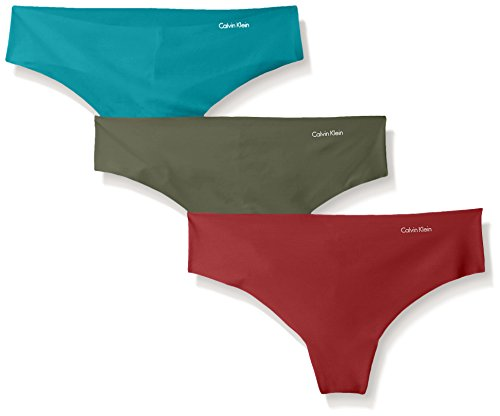 Calvin Klein Women's 3 Pack Invisibles Thong Panty by Calvin Klein Women's IA