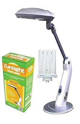 Full Spectrum SunLight Lamp Desk Lamp Energy Saver Rocker On//Off Switch SL5720RS