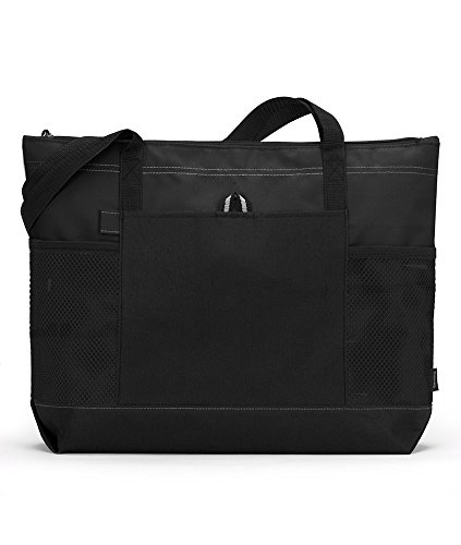 gemline-select-zippered-tote-black