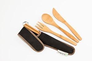 To-Go Ware RePEaT Reusable Bamboo Utensil Set, Hijiki
