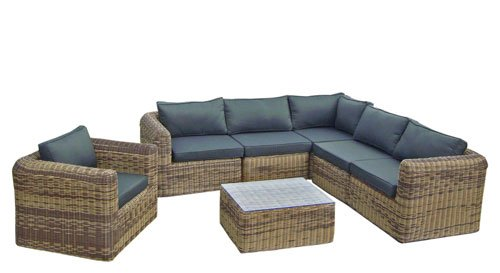 poly rattan lounge gartenset braun sofa garnitur polyrattan gartenm bel neu g nstig online kaufen. Black Bedroom Furniture Sets. Home Design Ideas