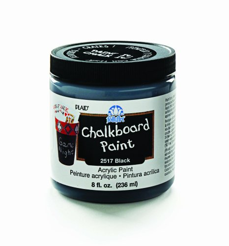 FolkArt 2517 8-Ounce Chalkboard Paint, Black - 1