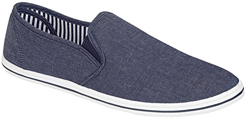 Unknown Urban, Espadrillas basse uomo, (Urban Grey (Denim blue)), 45