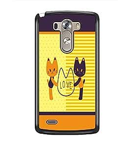 PrintDhaba Love D-1373 Back Case Cover for LG G3 (Multi-Coloured)