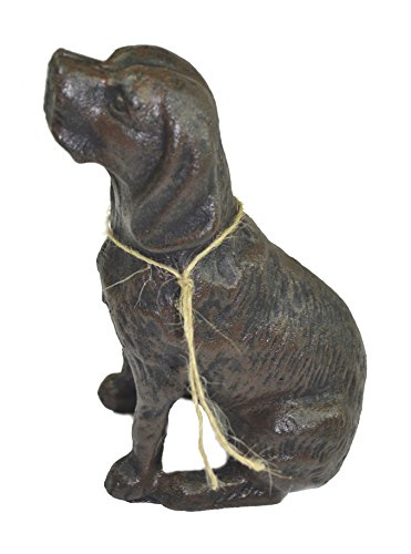 Lulu Decor, Cast Iron Dog Door Stopper, Doorstops, Sculpture, Dog Statue 4 Lbs (Black C62) (Cast Iron Dog Door Stop compare prices)