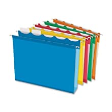 Pendaflex Ready-Tab Extra Capacity Hanging Folder, 20 Box, 1/5 Cut, Letter Assorted