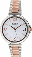 Bulova Women's 98L195 Analog Display Japanese Quartz Two Tone Watch
