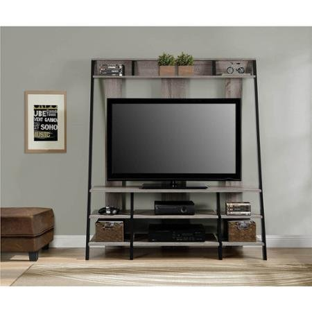 "Ladder Style Sonoma Oak Home Entertainment Center for TVs up to 48"" An Efficient And Attractive Option For Holding Your TV"