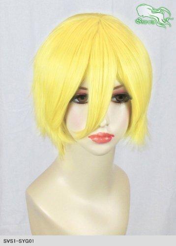 スキップウィッグ 魅せる シャープ 小顔に特化したコスプレアレンジウィッグ マニッシュショート ネオンイエロー
