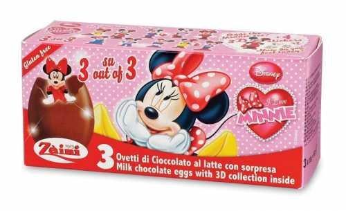 Disney MINNIE Zaini Milk Chocolate with Surprise Collection 3 Eggs