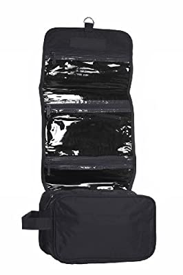 Best Cheap Deal for Hanging Toiletry Cosmetics Travel Bag, Black by BAGS FOR LESSTM from Budget Bags Inc - Free 2 Day Shipping Available