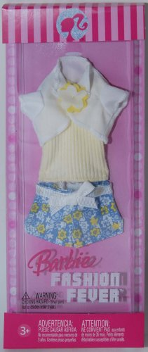 Barbie Fashion Fever Casual Clothing - Shorts and Yellow Top