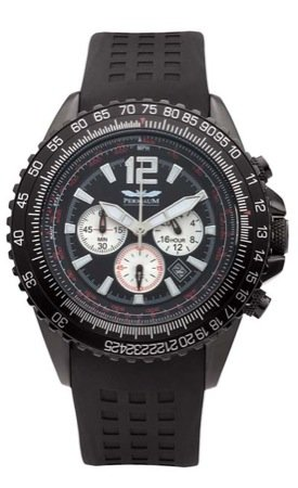 Perigaum 1972 Flightmaster P-0816-BS-BRC Chronograph for Him Solid Case