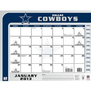 Perfect Timing - Turner 2013 Dallas Cowboys Desk Calendar, 22 x 17 Inches (8061237) at Amazon.com
