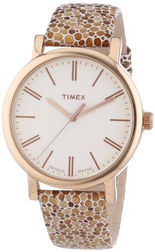 Timex Damen-Armbanduhr Originals Classic Round Analog Quarz Leder T2P325