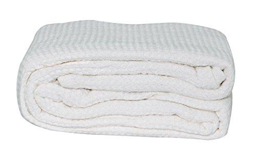 Lcm Home Fashions Cotton Thermal Blanket, King, White