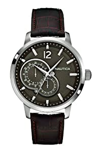 Nautica Men's Quartz Watch A15048G with Leather Strap