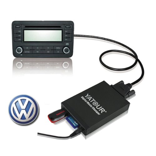 12 Pin Car Digital Music Changer With Usb Sd Mp3 For Vw Audi Skoda, Volkswagen Beetle, Audi A4(B6)A6(C5) Passat, Polo, Golf, Bora, Touran, Caddy, Jetta 07, Skoda