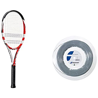 Babolat Pure Storm Tour with Gt Un strung Racquet and Pro Xtreme X 200M String Combo Pack Grip: 4.375