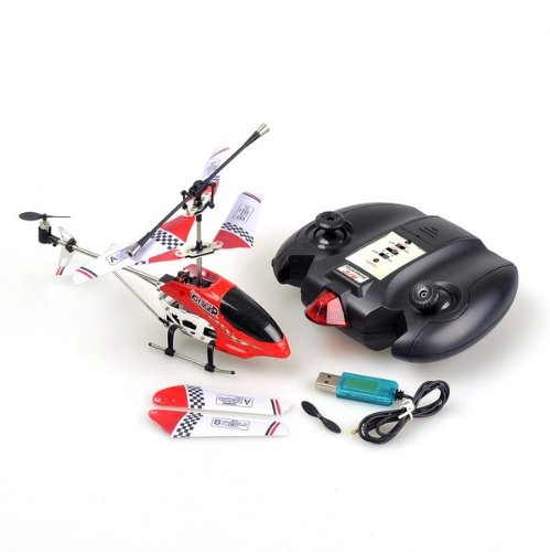 *RED* Mini 3.5 Channel Radio Remote Control Lanneret RC Helicopter With USB Cable
