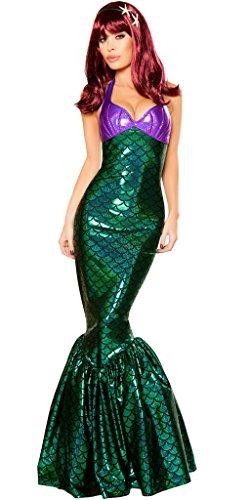Halloween 2017 Disney Costumes Plus Size & Standard Women's Costume Characters - Women's Costume CharactersDaughter of Poseidon Little Mermaid Halloween Costume