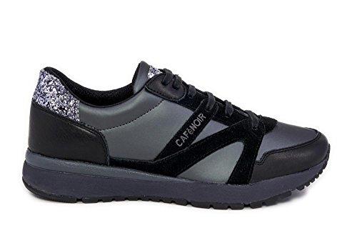 Cafè Noir PEA930016380 I15.016 GRIGIO 38 sneaker in gommato nappa e glitter