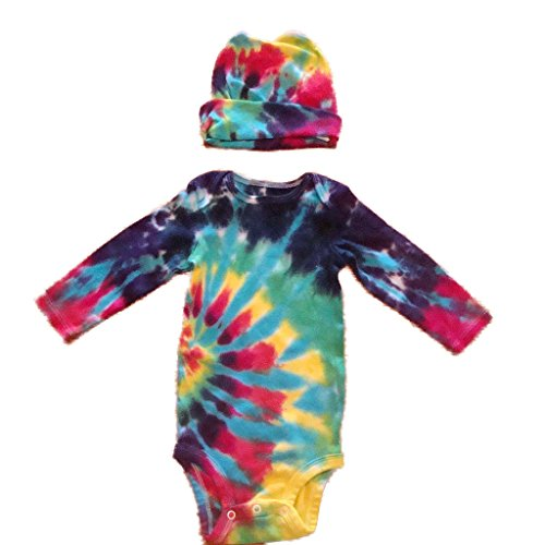 BMD -Gerber Tie Dye Infant Long Sleeve Onesie Set by BMD, Newborn to 24 Months
