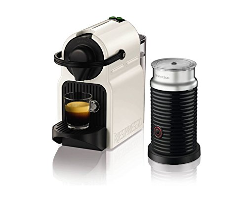 Nespresso Inissia Coffee Capsule Machine with Aeroccino3  by KRUPS – White