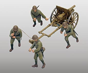 Fine Molds IJA Type 41 Mountain Gun Mountain Artillery Kit, 75mm, 1:35 Scale