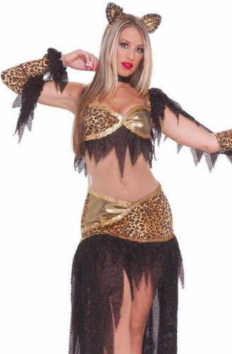 Forum Womens Sexy Leopard Ballroom Dancing Cat Outfit Costume
