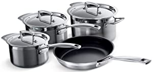 Le Creuset 3-Ply Stainless Steel Cookware Set - 4 Piece