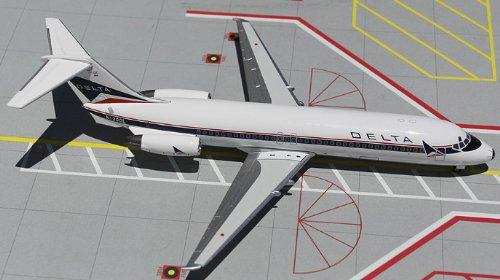 1: 200 ジェミニジェット Delta Air Lines DC-9-30 Widget Colors (並行輸入)