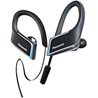 Panasonic WINGS Wireless Bluetooth Sport Clip Earbuds with Mic & Controller (Black)