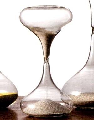 廣田硝子ガラス製スナ式時計 ラッパ型小3分(銀色砂)
