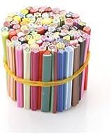 UniqStore 100 bâtons fimo de décorations fruits autocollantes relief pour ongles - manucure BS-09