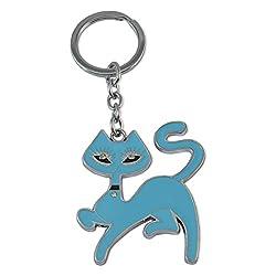 Sarah Metal Key Chain For Unisex (Blue)