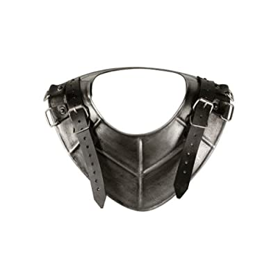 Armor Venue Dark Drake Gorget - Medieval Neck Armor One Size Fit All - Silver Armour