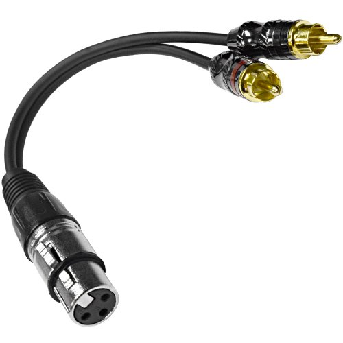 Seismic Audio - Sa-Y5 - 6 Inch Splitter Patch Y Cable - 1 Xlr Female To 2 Rca Male