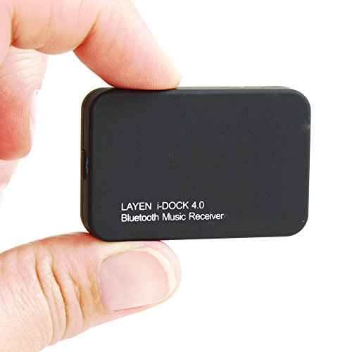 Layen® I-Dock Bluetooth 4.0 Music Receiver Adapter. With Aptx For Superior Sound Quality! Stream Music Wirelessly From Your Phone / Tablet / Ipod / Pc Etc To Docking Station, Speakers, Stereo, Bose, Pure, Klipsch, B&W, Jbl Etc!