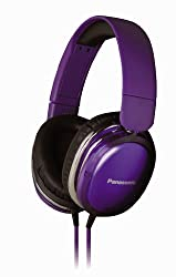 Panasonic RP-HX350ME Violet Over-Ear Headphones w/Mic for iPod/MP3player/Mobiles