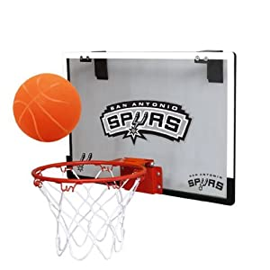 NBA San Antonio Spurs Game On Indoor Basketball Hoop & Ball Set