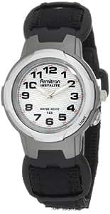 Armitron Sport Unisex 256347BLK Easy to Read Instalite Black Nylon Velcro Strap Watch
