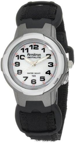 Armitron Women's 34mm Black Nylon Band Resin Case Quartz White Dial Analog Watch 25/6347BLK