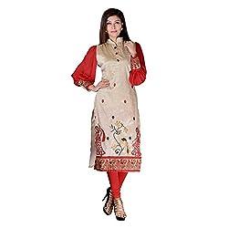 Sarvottam Chanderi silk kurta with bell sleeves P00009
