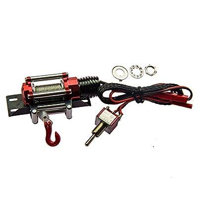 XUNJIAJIE 1:10 RC Car Crawler Metall Stahl Seilwinde Automatic Wired Winde Control System