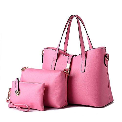 koson-man-damen-3-in-1-pu-leder-sling-reissverschluss-vintage-tote-taschen-top-griff-handtasche-rose
